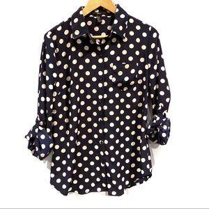 | Forever 21 | polka dot long sleeve blouse